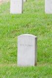 阿灵顿墓地墓碑战士未知 免版税库存图片