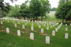 阿灵顿墓地dc国民华盛顿 图库摄影