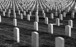 阿灵顿墓石 免版税图库摄影