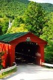 阿灵顿被遮盖的桥 库存照片
