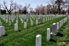 阿灵顿,弗吉尼亚:阿灵顿国家公墓坟墓 免版税库存图片