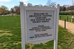 阿灵顿,VA标志 免版税库存图片