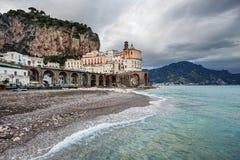 阿特拉尼,阿马尔菲海岸(意大利) 免版税库存照片