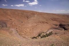 阿特拉斯山脉大彻尔du Tichka,摩洛哥 免版税库存图片