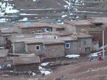 阿特拉斯山脉的巴巴里人村庄 摩洛哥 免版税库存照片