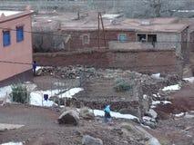阿特拉斯山脉的巴巴里人村庄 摩洛哥 库存图片