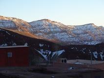 阿特拉斯山脉的巴巴里人村庄 摩洛哥 免版税库存图片