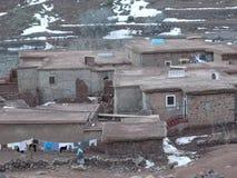 阿特拉斯山脉的巴巴里人村庄 摩洛哥 免版税图库摄影