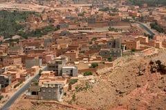 阿特拉斯山脉的巴巴里人村庄 库存照片