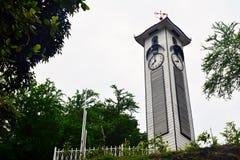 阿特金森尖沙咀钟楼在亚庇,马来西亚 库存图片