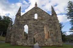 阿瑟港古迹证明有罪教会废墟 免版税库存图片