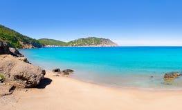 阿瓜aiguas海滩blanca blanques ibiza 免版税库存图片