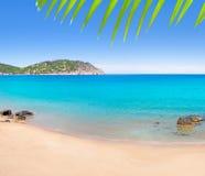阿瓜aiguas海滩blanca blanques ibiza 免版税图库摄影