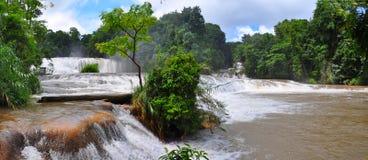 阿瓜azul墨西哥瀑布 图库摄影