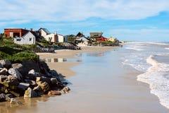 阿瓜Dulces海滩, Rocha,乌拉圭 免版税库存照片
