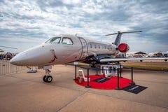 阿瓦隆,墨尔本,澳大利亚- 2019年3月3日:巴西航空工业公司遗产500私人喷气式飞机 库存图片