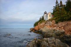 阿科底亚国家公园的秋天图象在新英格兰,缅因 免版税库存照片