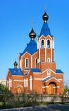 阿穆尔河正统大教堂的komsomolsk 库存照片