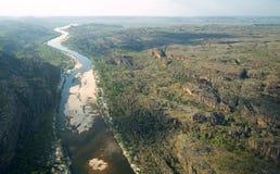 阿纳姆地,北澳大利亚鸟瞰图  免版税库存照片