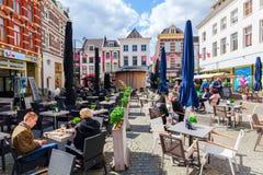 阿纳姆,荷兰的市中心的看法 库存照片