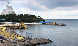 阿纳帕度假村黑海的 库存图片