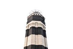 阿纳帕,俄罗斯- 2016年7月28日:阿纳帕灯塔,在海角的岸的集合在阿纳帕的中心 库存图片
