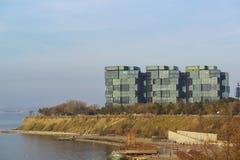 阿纳帕,克拉斯诺达尔地区,俄罗斯- 3月03 2017年:精华住宅复合体 库存图片
