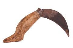 阿纳托利安刀子或铅笔刀在被隔绝的白色背景 免版税库存照片