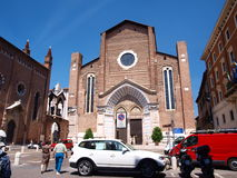 阿纳斯塔西娅教会意大利s st维罗纳 免版税库存图片