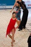 阿纳斯塔西娅Balaeva -拉丁舞蹈演员 免版税库存图片