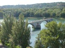 阿维尼翁的圣徒本尼迪克特著名桥梁在普罗旺斯在法国 库存照片