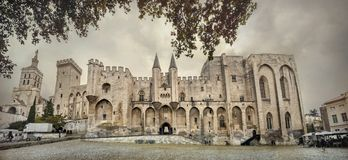 阿维尼翁des palais papes 法国,普罗旺斯 免版税库存图片
