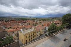阿维拉中世纪堡垒墙壁,西班牙 图库摄影