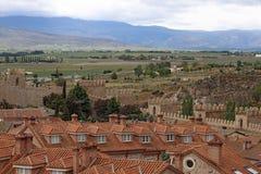 阿维拉中世纪堡垒墙壁,西班牙 库存图片