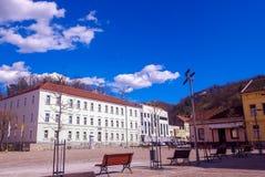 阿维拉和教会方形的圣特里萨在Pozega 库存照片