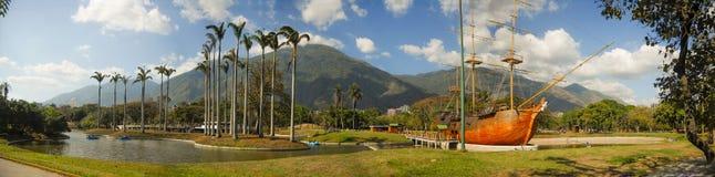 阿维拉山美丽的景色从东方公园加拉加斯委内瑞拉的 图库摄影