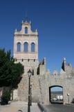 阿维拉市入口极大的西班牙墙壁 免版税库存图片