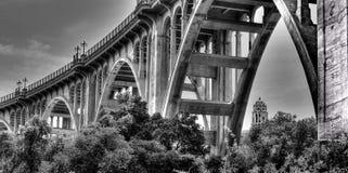 阿罗约Seco桥梁,帕萨迪纳加利福尼亚 免版税库存照片