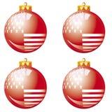 阿美利坚鲍尔圣诞节红色 库存例证