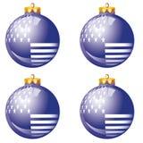 阿美利坚鲍尔蓝色圣诞节 库存照片