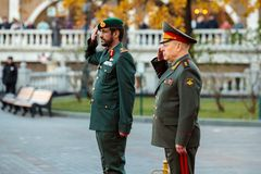 阿联酋、少将萨利赫Al艾米和土地的总司令的地面部队的司令员 免版税库存照片