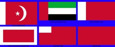 阿联酋下属地区的旗子 图库摄影