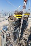 阿联酋,迪拜, 05/21/2015, Damac由头等、建筑和大厦耸立迪拜 免版税库存图片