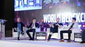 阿联酋,迪拜- 2017年10月24日:业务会议和会议想法 人出席 库存图片