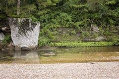 阿肯色小河岩石 库存照片