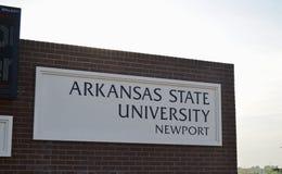 阿肯色州立大学纽波特,明显的树阿肯色 免版税库存照片