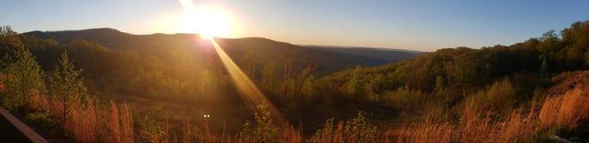 阿肯色日出风景视图 免版税图库摄影