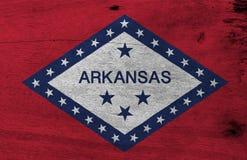 阿肯色的旗子木板材背景的 难看的东西阿肯色旗子纹理 皇族释放例证
