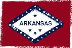 阿肯色难看的东西旗子 美国州 纹理,背景,海报 库存例证
