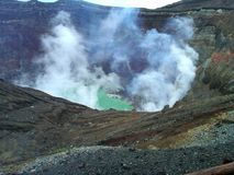 阿苏山火山在日本 库存照片